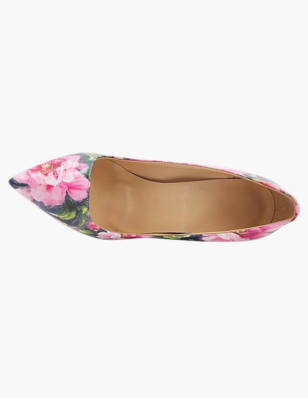 Zapatos puntiagudos Charol PU de multi colores con estampado lp9MuVIEq