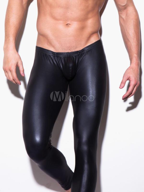 Black Nylon Men's Sexy Panties