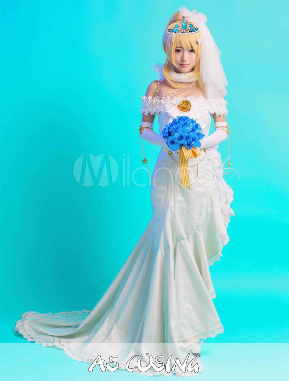 LoveLive! Ayase Eli LoveLive! Wedding Dress Costume - Milanoo.com
