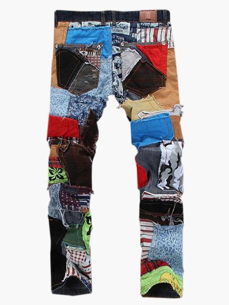 Multi Color Denim Fashion Straight Jeans For Men Milanoo Com