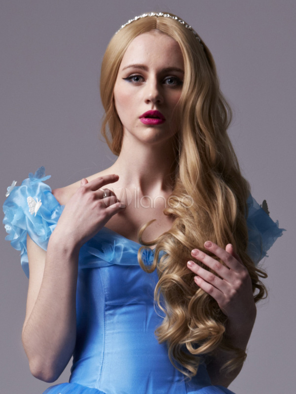 Cinderella Heat-resistant Fiber Cinderella Anime Wig  Halloween