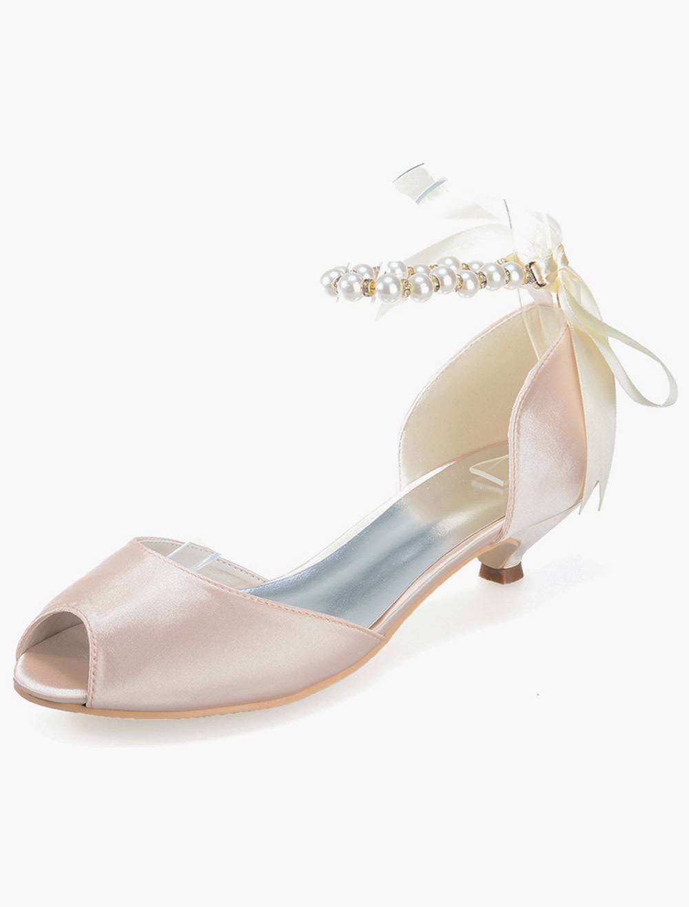 Goblet Heel Ribbons Satin Romantic Dress Sandals
