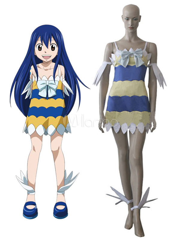 Fairy Tail Wendy Marvell Cosplay Costume Halloween Milanoo Com