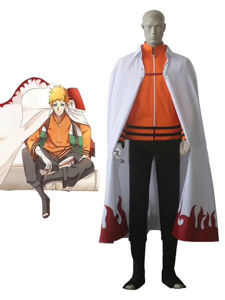 Buy Naruto The movie The last-Uzumaki Naruto Seventh Hokage Anime Cosplay Costume Halloween for $92.69 in Milanoo store