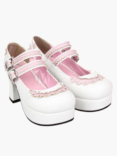 Zapatos de lolita de PU de alta calidad ivwmc