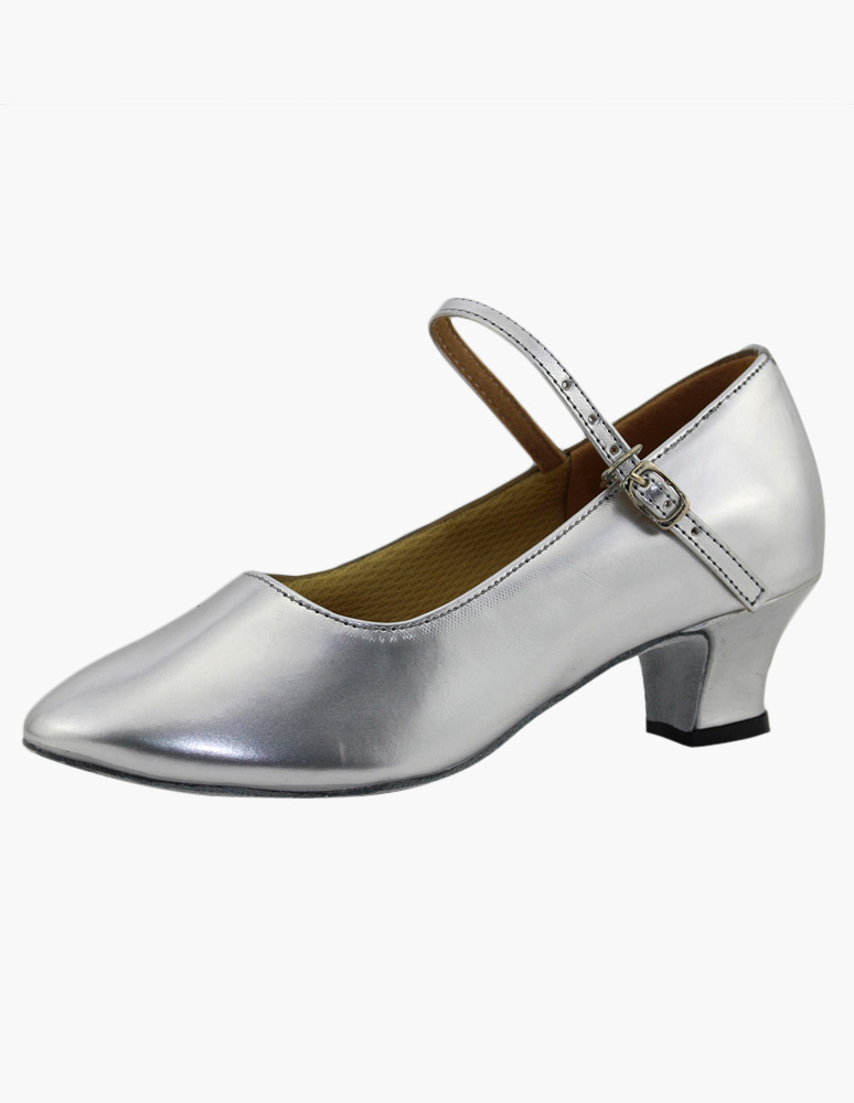 Round Toe Mary Jane PU Leather Professional Ballroom Shoes