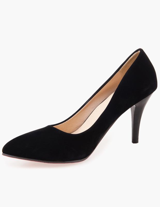 Buy Pretty Stiletto Heel PU Leather Women's Pointy Toe Heels for $31.49 in Milanoo store