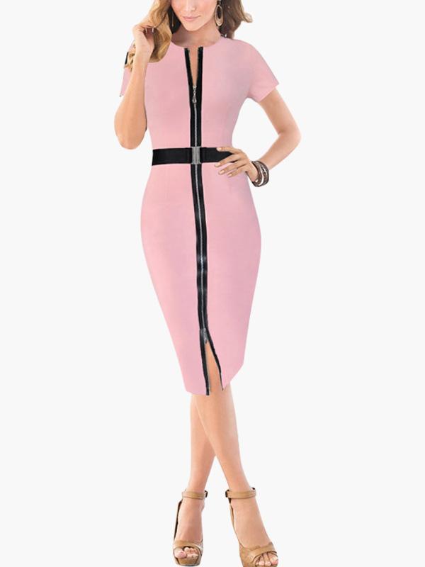 Short Zipped Bodycon Dress