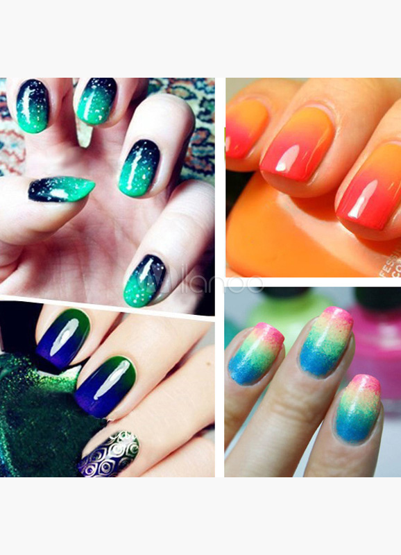 Gradient Nail Art Stamp With 5-Substitute Sponge Cheap clothes, free shipping worldwide