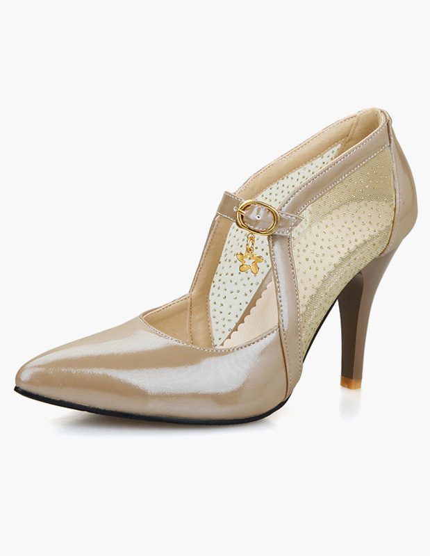 Buy Attractive Stiletto Heel PU Leather Pointed Toe High Heels For Women for $35.14 in Milanoo store