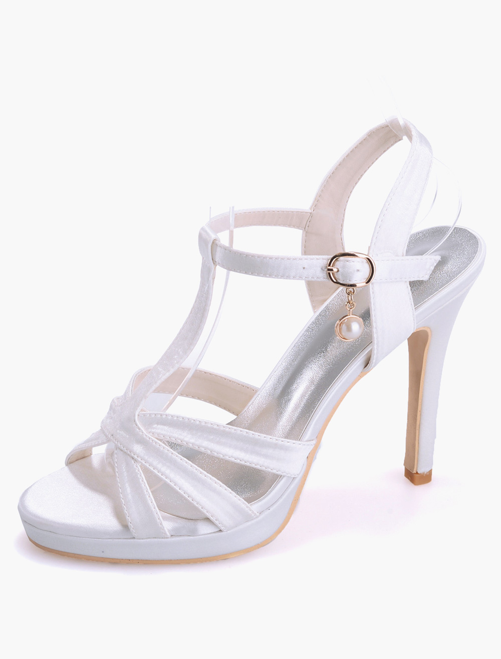 Gorgeous Open Toe Satin Evening and Bridal Sandals