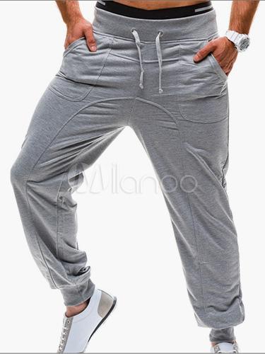 Cotton Straight Comfy Sweatpants Men's Pants