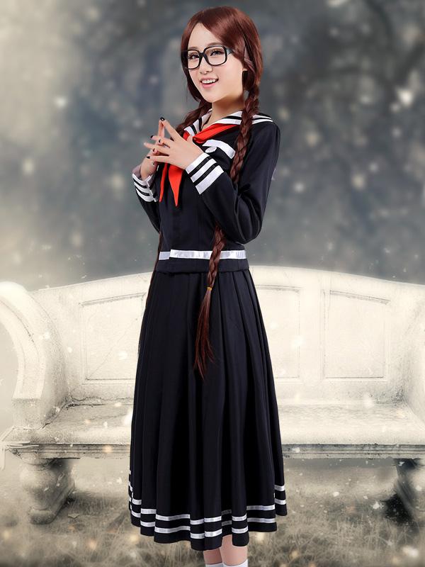 Buy Danganronpa Fukawa Touko School Uniform Halloween Cosplay Costume Halloween for $59.99 in Milanoo store