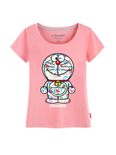 87ac811b Short Sleeves Doraemon T-Shirts for Female - Milanoo.com