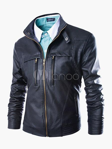 Zippers Stylish Leather Jacket for Men