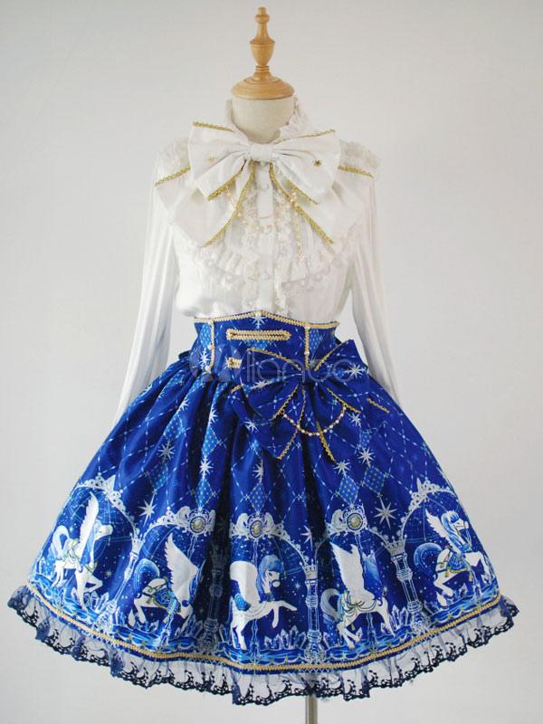 Sweet Lolita Skirt Angelic Pretty Replica Pegasus Printed SK Lolita Skirt