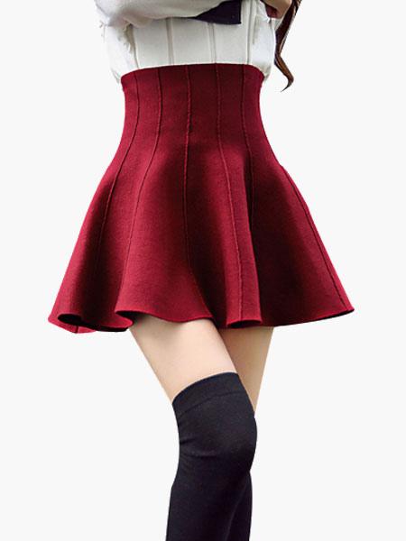 Fashion Ruffles Cotton Blend Woman's Skirt Cheap clothes, free shipping worldwide