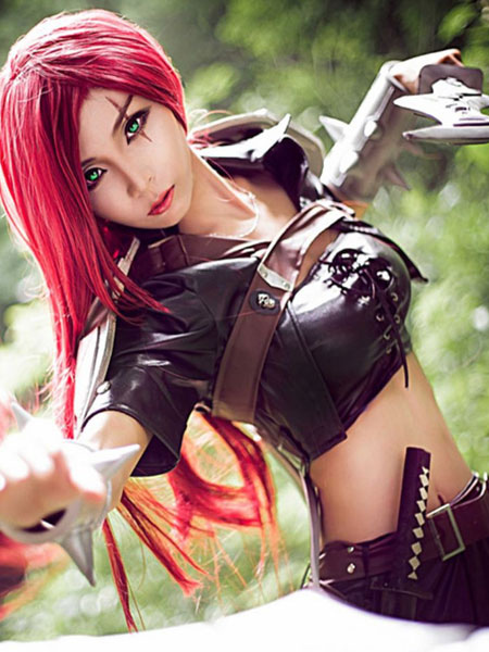 Buy LOL Cosplay Costume League Of Legends Katarina Du Couteau Cosplay Costume LOL Cosplay Costume Halloween for $85.99 in Milanoo store