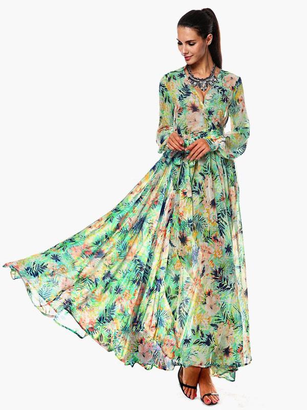 Vestidos largos manga larga bohemios