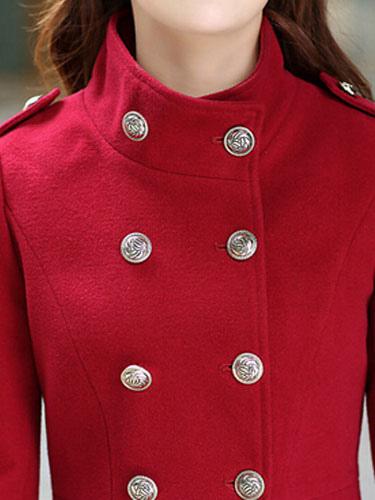 Mujer Soporte Abrigos Para Botones Cuello wHnPAqfU