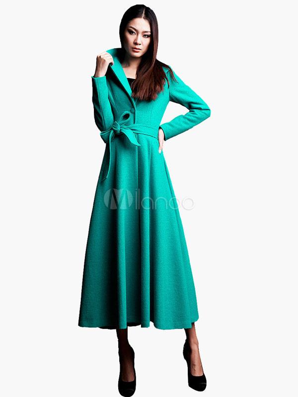 Vinatge Maxi Coat With Lapel and Belt