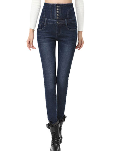 Pantalones De Mezclilla Recto Moderno Para Mujer Milanoo Com