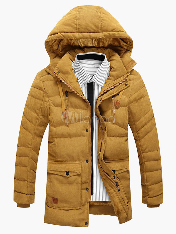 Hooded Warm Cotton-padded Jacket For Men