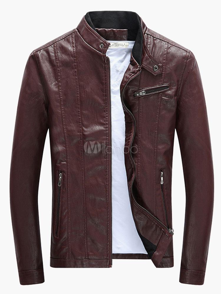 Plus Size Leather Motorcycle Jacket