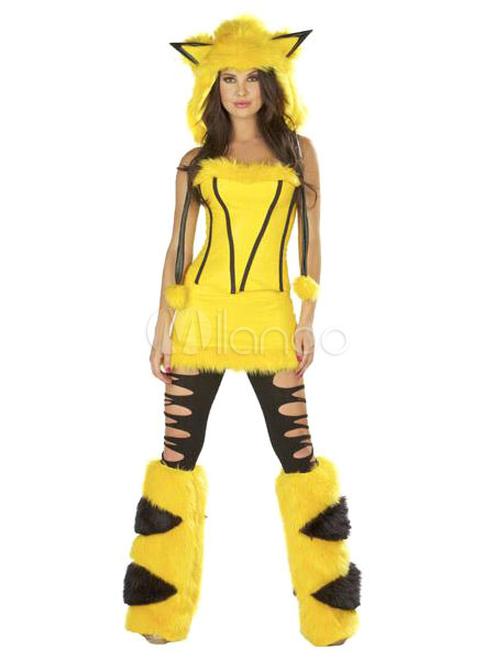 Buy Halloween Sexy Pokemon Pikachu Polyester Costume For Women Halloween for $28.99 in Milanoo store
