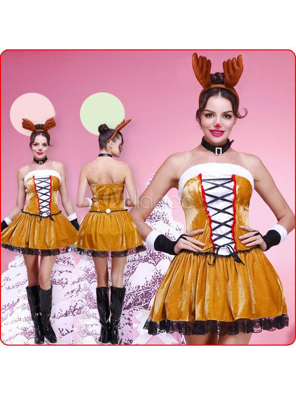 Vestuario de Navidad de renos de la mujer - Milanoo.com
