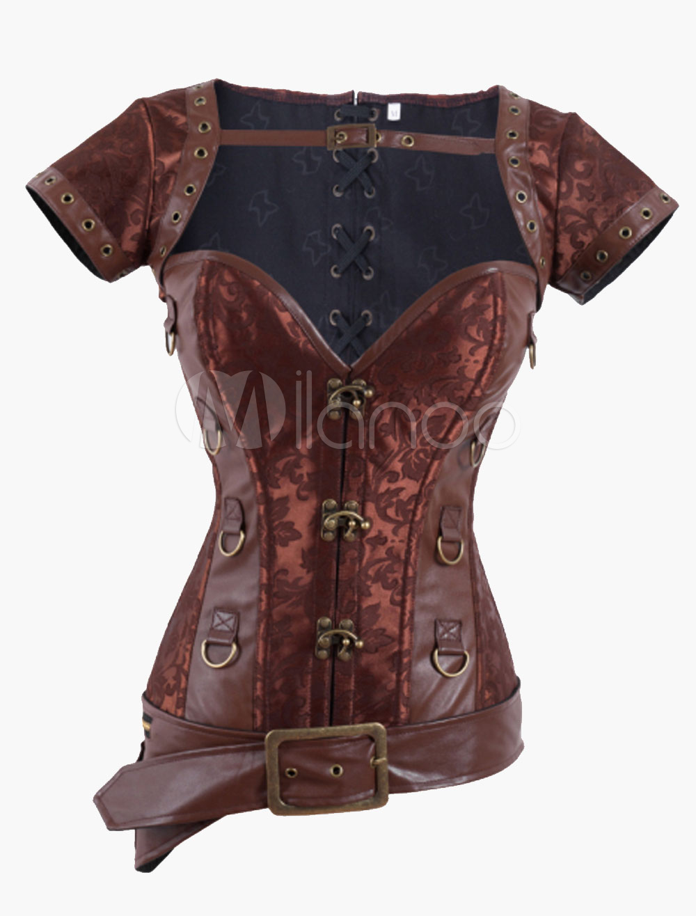 Vintage Metal Bottons Polyester Corsets For Women