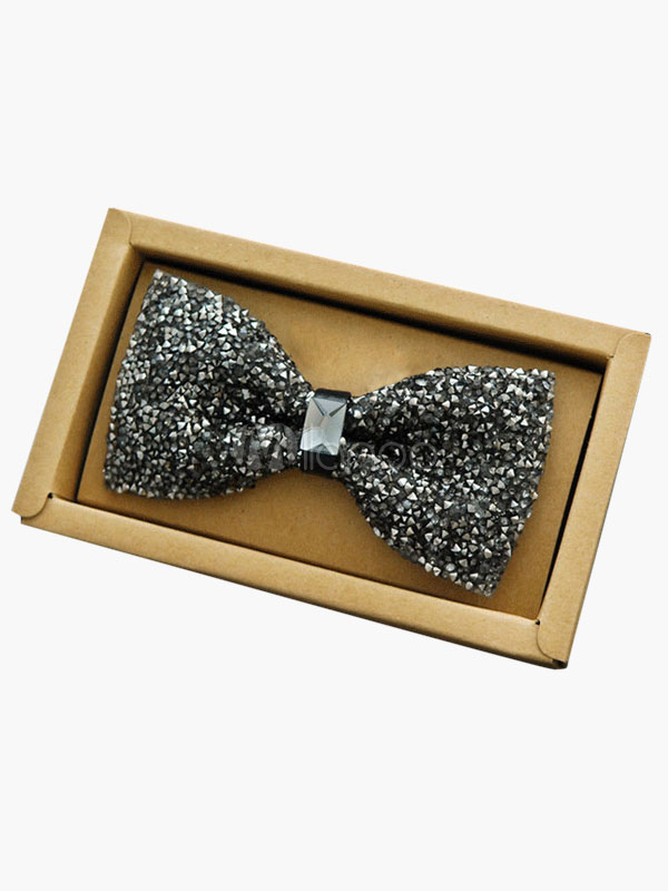 Chic Shiny Polyester Men's Bow Tie