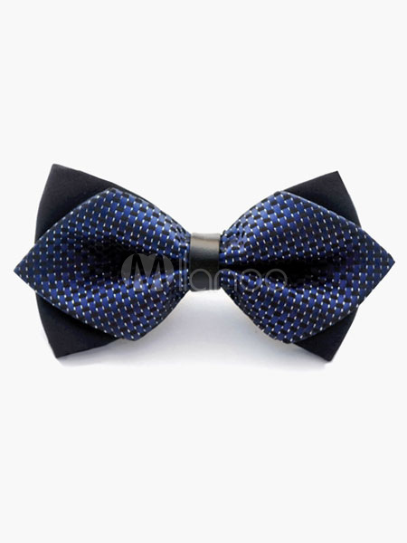 Chick Deep Blue Polyester Men's Bow Tie