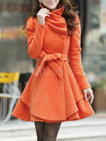 economico cappotto svasato donna con cappuccio