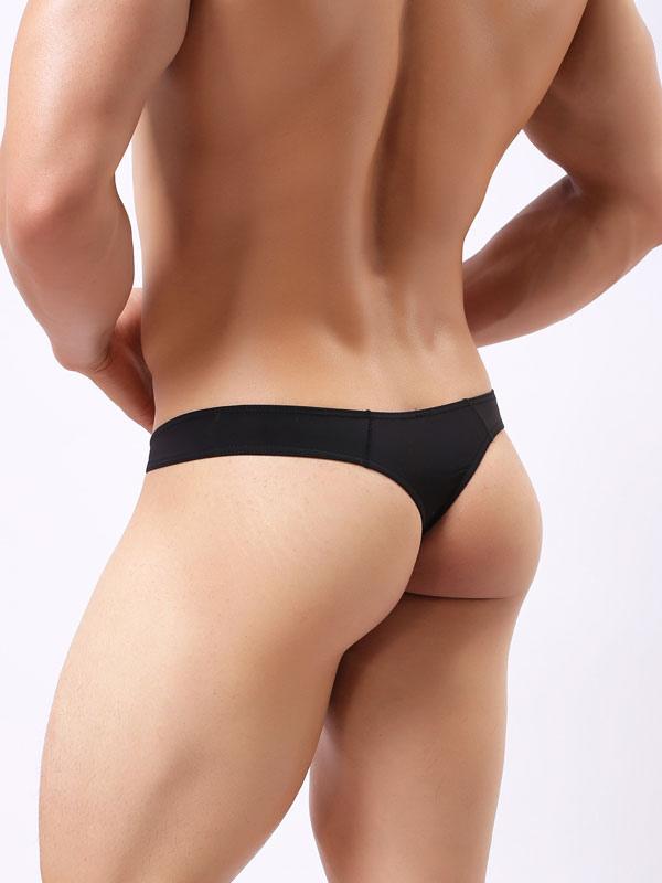 Lencería Sexy para Hombres Tanga de Nylon de color liso - Milanoo.com 89e349b8aba1