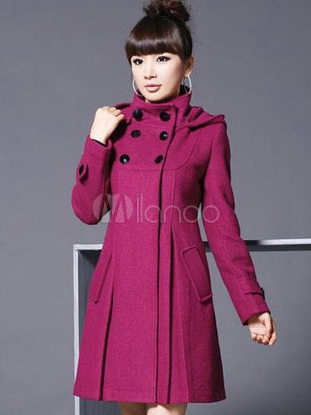 Trench Women Coat Hoodie Wrap  Jacket Long Sleeves Winter Wrap Coat