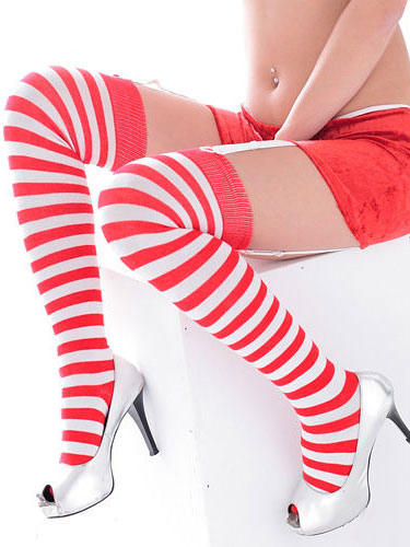 Buy Halloween Striped Christmas Stocking Costume Accessories Halloween for $5.51 in Milanoo store