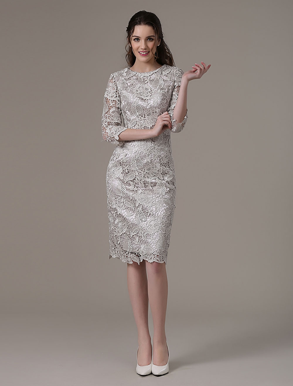 silver cocktail dress for wedding