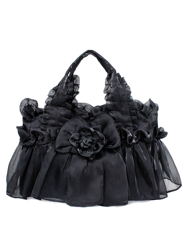 Buy Gothic Lace Synthetic Flowers Lolita Bag for $24.29 in Milanoo store