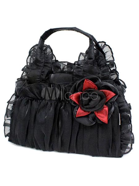 s e r schen gotische spitze synthetische blume lolita bag. Black Bedroom Furniture Sets. Home Design Ideas