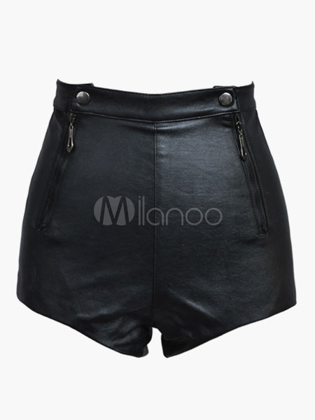 Sexy PU Leather Shorts For Women Cheap clothes, free shipping worldwide