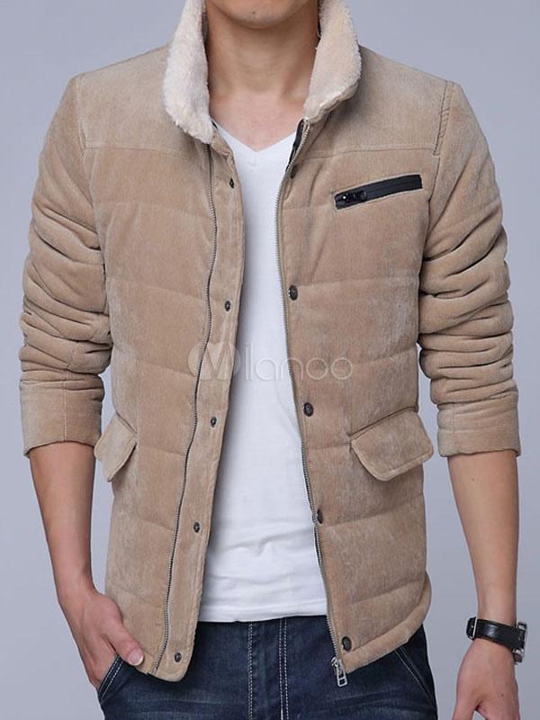 della Stand a colletto uomo coste velluto giacca Elegante wHZBqw