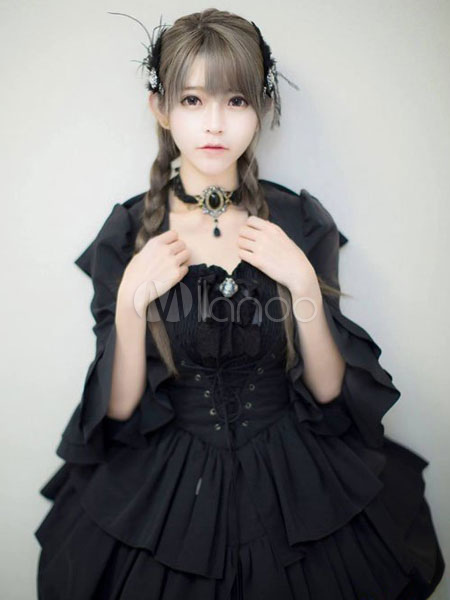 Stunning Gray Long Lolita Cosplay Wig  Halloween