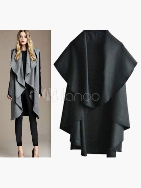 Woman's Drape Front Poncho Cheap clothes, free shipping worldwide