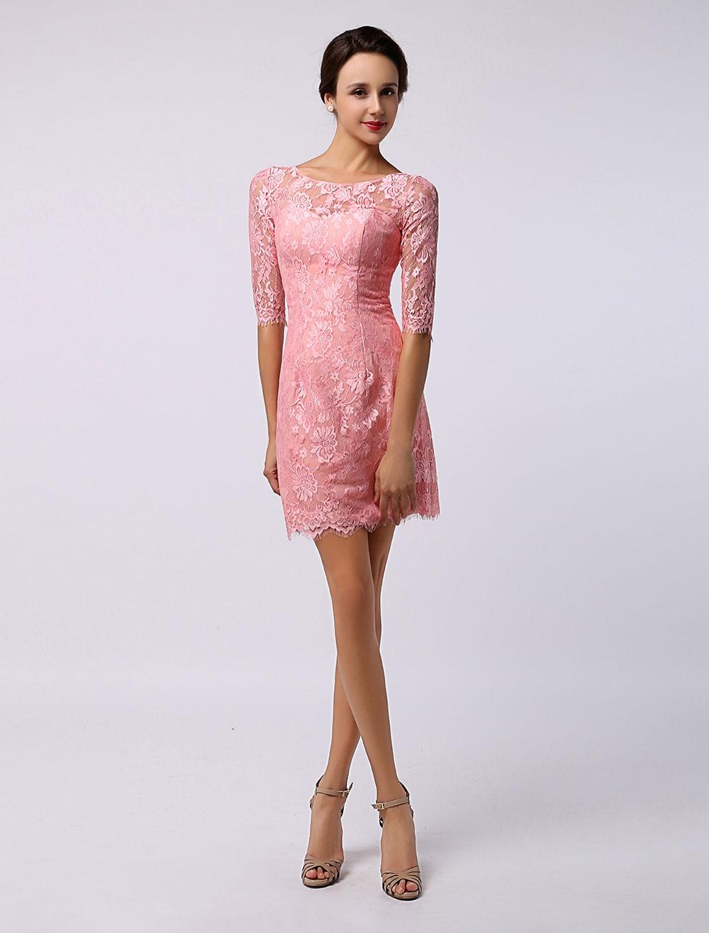 Half Sleeve Short Lace Bridesmaid
