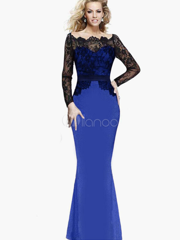 Lace Mermaid Maxi Dress Cheap clothes, free shipping worldwide