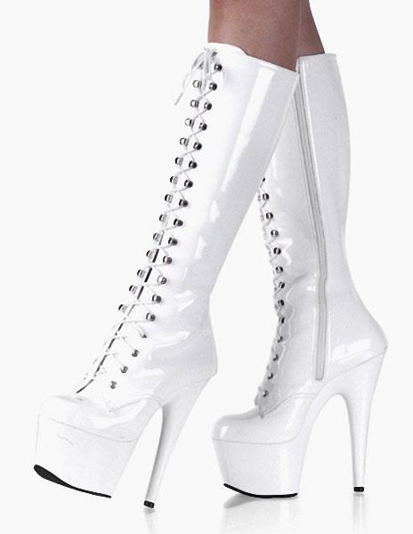 Lace Up Knee-high Platform Boots