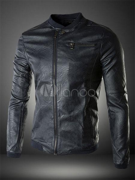 more photos b2309 ba656 Slim Fit giacca di pelle per uomo