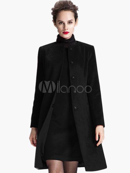 Slim Fit Wool Blend Coat