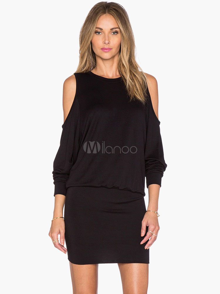 Buy Cold Shoulder Knitted Dress for $19.54 in Milanoo store